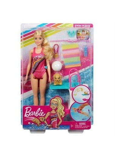 Barbie  Seyahatte Yüzücü  Oyun Seti GHK23 Renkli